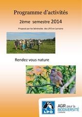 prog 2eme semestre 2014
