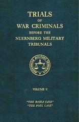nuremberg international military tribunal green series vol 5