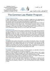 common law recherche