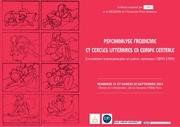 affiche colloque psychanalise freudienne et cercles litteraires 19 20 septembre 2014