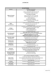 horaires automne 2014 pour diffusion