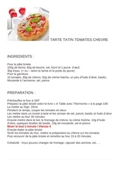 tarte tatin tomates chevre