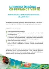1 communication en conseil des ministres