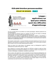 Enonce projet 2 leapps glo 4000 a 2014