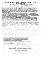 communique festiconat 2014