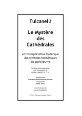 fulcanelli le mystere des cathedrales