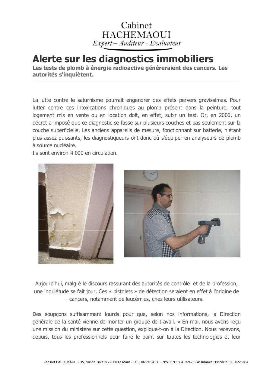 Aperçu du document Alerte_sur_les_diagnostics_immobiliers.pdf - page 1/2