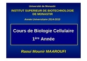 cours bio cell 1ere a isbm 2014 2015 lmd