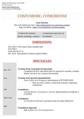 Fichier PDF cv comedienne costumiere