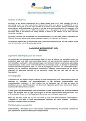 vacature adviseur microstart brussel 2014