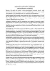 communique de presse novissen mardi 16 septembre 2014