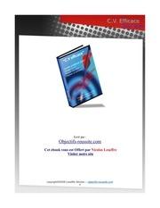 Fichier PDF cv efficace