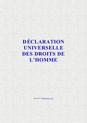 declaration universelle droits de lhomme