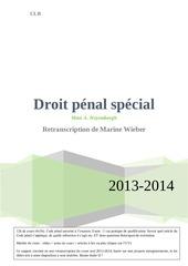 droit penal special retranscription finale wiebermarine