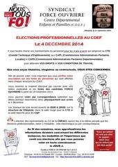 elections professionnelles 4 decembre 2014