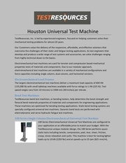 houston universal test machine