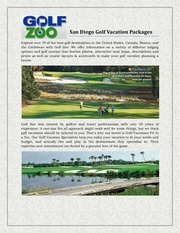 san diego golf vacation packages