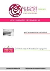 uma 78 lettre d info septembre 2014 n 2