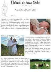 newsletter 9 septembre 2014