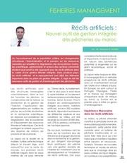 recif artificiel article publie dans la revue infosamak