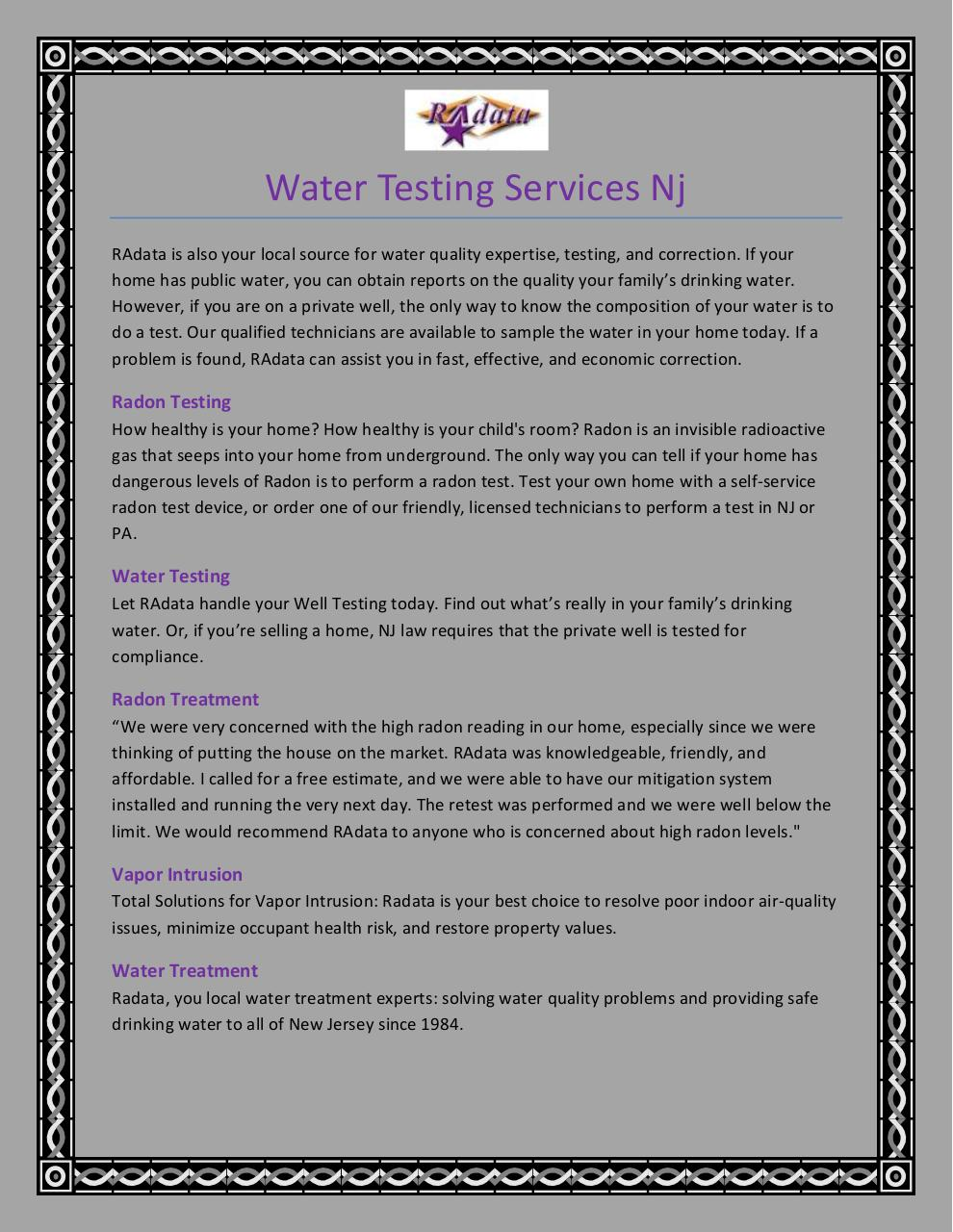 Water Testing Services Nj.pdf - page 1/3