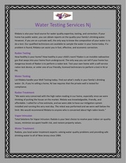 water testing services nj