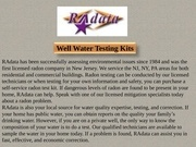 well water testing kits
