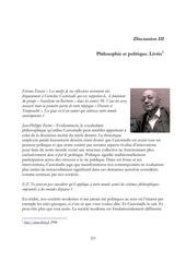 castoriadis politique et philosophie discussion iii