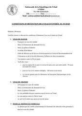 Fichier PDF demande de visa