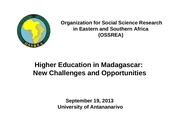 rasoanaivo higher education in madagascar