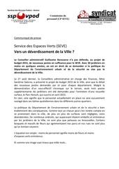 seve communique presse 19 09 2014