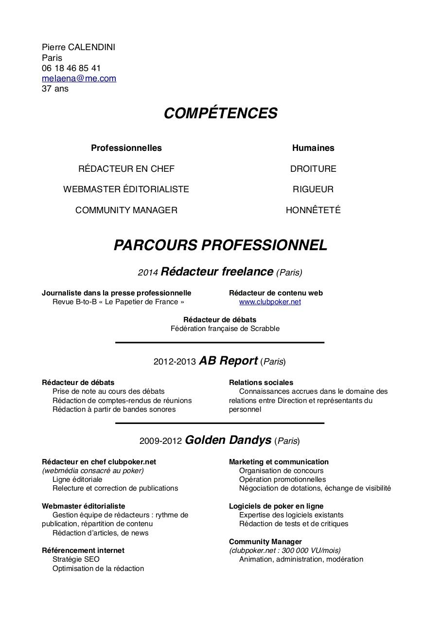Aperçu du document CV Pierre Calendini 2014.pdf - page 1/2
