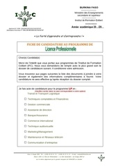 dossier candidature licence pro 78