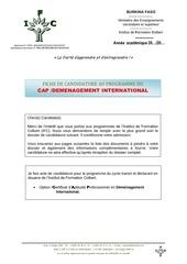 dossier de candidature au demenagement international 82