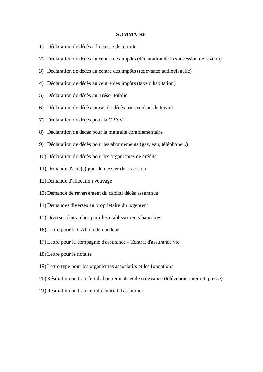 Lettre Deces Pf13 Par L Jacquet Fichier Pdf