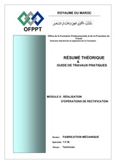 m9 realisation d operations de rectification
