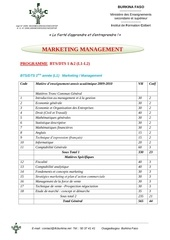 programme bts1 2 marketing management 90