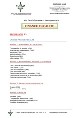 programme licence finance fiscalite 94