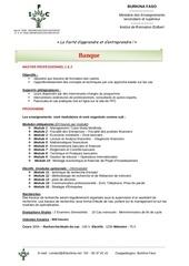 programme master pro 1 et 2 banque 145