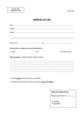 Fichier PDF absences etudiants