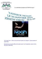 billetterie concert yannick noah