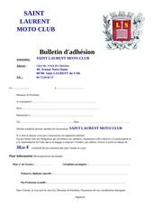 bulletin adhesion stade laurentin moto club pdf