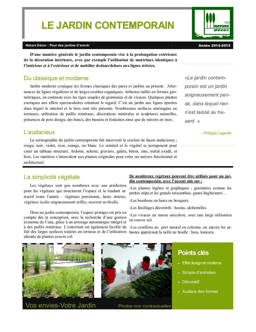 Plantes Pour Jardin Contemporain jardin contemporain par shakaann - fichier pdf