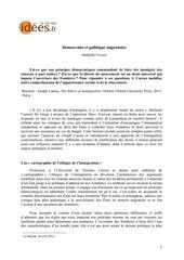20140528 politique migratoire et democratie