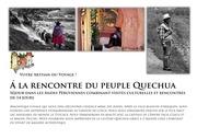 a la rencontre du peuple quechua