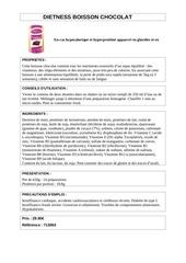 Fichier PDF dts boisson dietness chocolat
