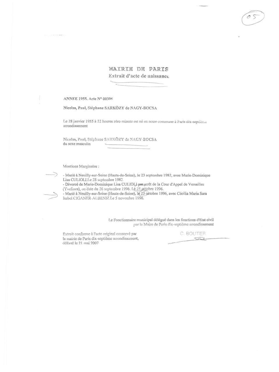b91584a09779d Aperçu du document acte de naissance sarkozy.pdf - page 1 1