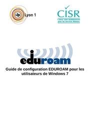 Fichier PDF configuration eduroam sous windows 7