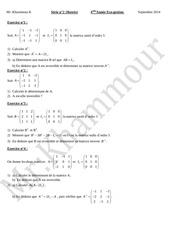 serie n 2 matrice