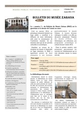 bulletin du musee zabana n 3